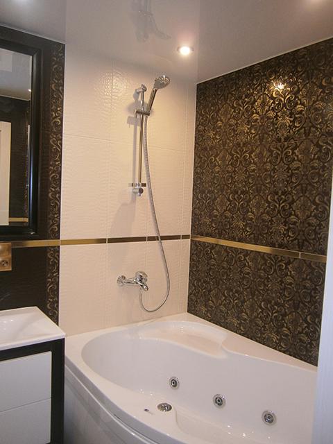 Примеры работ ванная комната смеситель с гигиенический душ купить новосибирск
